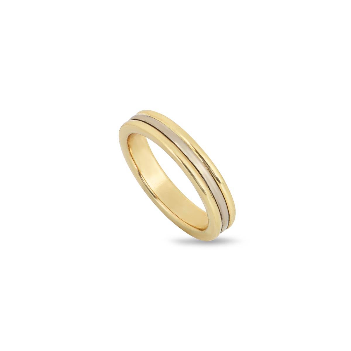 18k Gold 4mm Bevelled Wedding Band